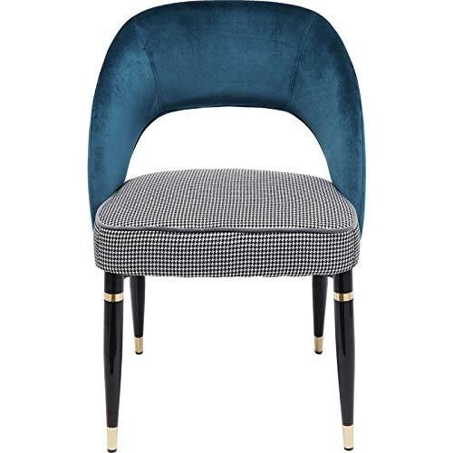 Kare Design Stuhl Samantha Petrol Grün 56 83 58 56 x 58 x 83 Stuhl Samantha Petrol Teilholz u. MDF -