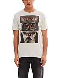 edc by ESPRIT 037cc2k022, Camiseta para Hombre, Blanco (Off White), Medium