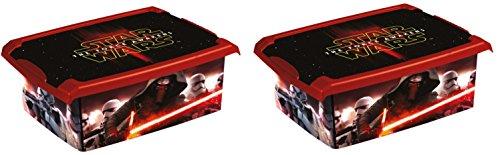 2x Caja para juguetes juguete caja Fashion Caja de Star Wars 10L