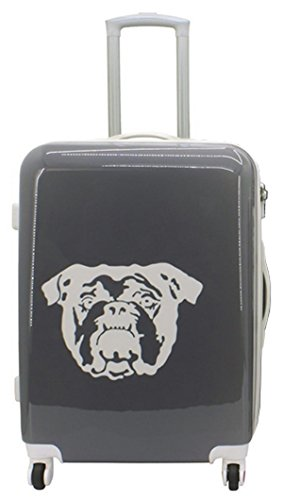 F 23 Koffer Spike Bulldogge grau Polycarbonat Hartschalenmix Koffer Größe L Hartschale Reisekoffer Trolley Case Fa. Bowatex (Leder Trolley-case)