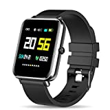 Zagzog Smartwatch, IP68 Wasserdicht Fitness Armband 1,54 Zoll Voller Touch Screen Fitness Uhr GPS Fitness Tracker mit Pulsuhren Schrittzähler Stoppuhr für Herren Damen Smart Watch für iOS Android