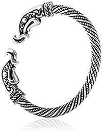 Brazalete con cabeza de cuervo, diseño vintage de vikingo
