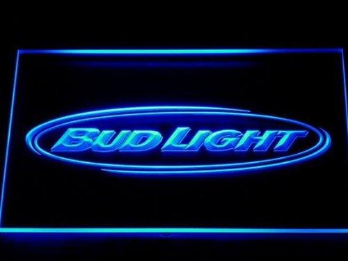 Bud Light LED Zeichen Werbung Neonschild Blau