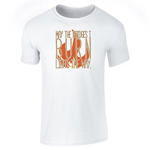 Pop Threads Herren T-Shirt, Weiß, 846687