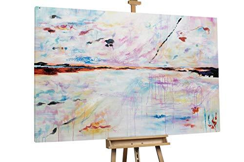 'Yet So Far' 180x120cm | Abstrakt Ruhe Orange XXL | Modernes Kunst Ölbild
