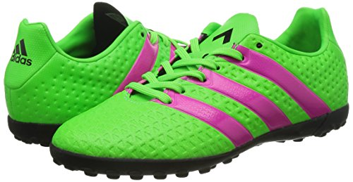 adidas Ace 16 4 Tf  Boys  Football Boots  Green  Solar Green Shock Pink Core Black   5 5 UK  38 5 EU