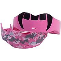 Soldado Deportes Fang/Digital Camuflaje bucal 2-Pack, Hombre, MGC-008, Rosa, Talla única