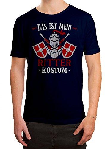 um T-Shirt | Verkleidung | Karneval | Fasching | Herren | Shirt, Farbe:Dunkelblau (French Navy L190);Größe:L (Edel-ritter-kostüm)