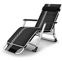 FEIFEI Fauteuils inclinables Chaise longue pliante de jardin de chambre à  coucher de chaise avec l 344138332fbd
