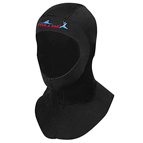 Scuba Diving Hood 3mm Neoprene Swimming Cap Connect Shoulder Cold Water Snorkeling Surfing Dive Hat Hood Neck Cover Wetsuits Women Men Vented Bib Hood for Head Face Neck Protection