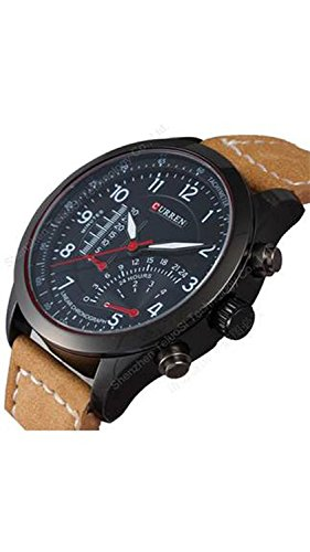 TESLO Analogue Black Dial Men's & Boy's Watch -Curren-Simple555