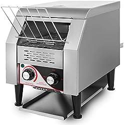 Olibelle Toaster Convoyeur Electrique 300PCS / H Toaster avec Extra Large Slots-stainless AcierMachine à Griller pour Pain (2.2KW/300PCS / H) (2.2KW / 300PCS/H)