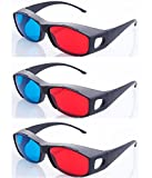 #9: Hrinkar original New Model Anaglyph 3D Glasses Red and Cyan - 3d Glass For Mobile Phone, Computer, Laptop, TV, Magazines And Projector3 Pcs Pack