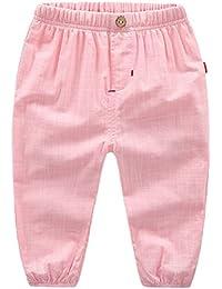 Zhhlaixing Boy's Trousers Cotton Elastic Waist Slacks Toddler Pant