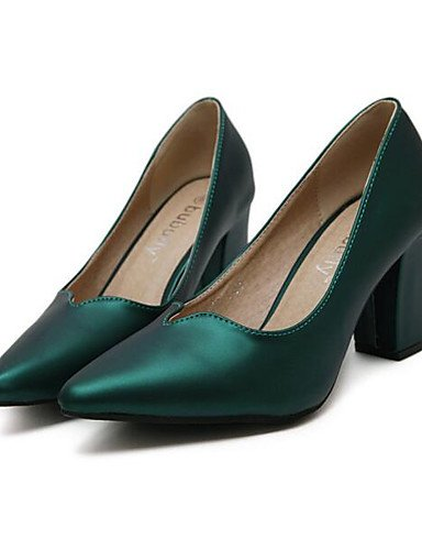 GS~LY Damen-High Heels-Outddor-Kunstleder-Niedriger Absatz-Komfort-Schwarz / Grün / Grau black-us8 / eu39 / uk6 / cn39