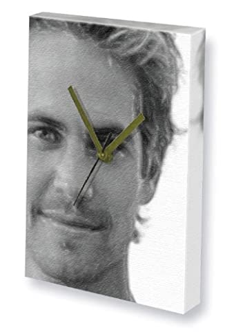 PAUL WALKER - Canvas Clock (A5 - Signed by the Artist) #js001