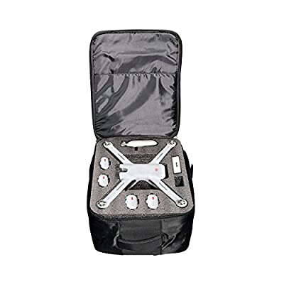 SODIAL Bag For XIAOMI Mi 4K 1080P FPV Drone RC Quadcopters Carry Bags Outdoor Backpack Shockproof Shoulder Bag Suave Free Drop (Black) by SODIAL