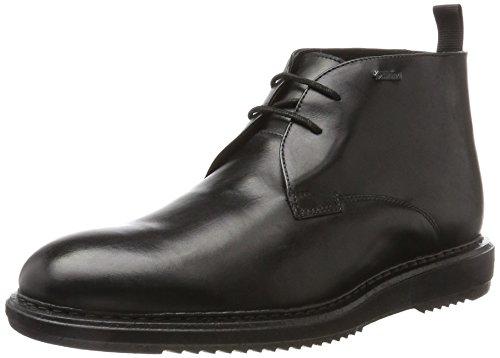 Clarks Herren Kenleymid GTX Klassische Stiefel, Schwarz (Black Leather), 41.5 EU (Gtx Chukka)