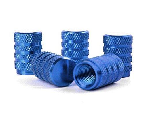 Josep. h tappi valvola del pneumatico stelo in alluminio tappi antipolvere auto pneumatico ruota valvola aria caps, 5pezzi blue