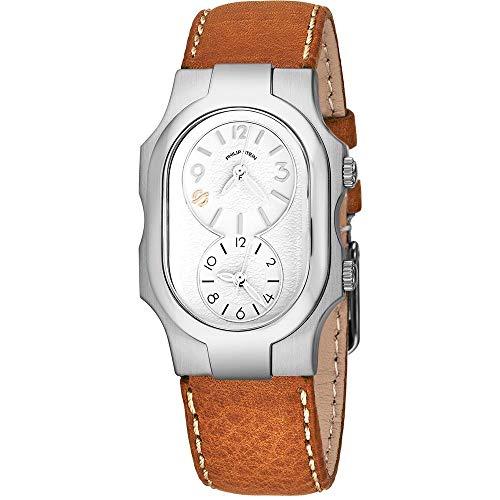 Philip Stein Women's Brown Calfskin Band Steel Case Quartz Watch 1-FSW-CSTC