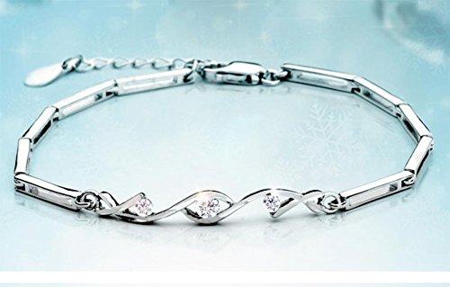 mme-bracelet-creatif-bracelet-simple-bracelet-en-argent-white