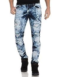 BLZ jeans - Jean bleu brut délavage important et troué
