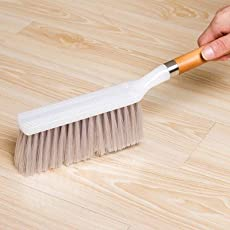 HORIZIA Wooden Long Handle Soft Bristle Carpet Upholstery Cleaning Brush