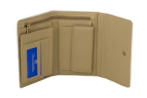 Portafoglio donna RENATO BALESTRA beige apertura a bottone con portamonete A4151