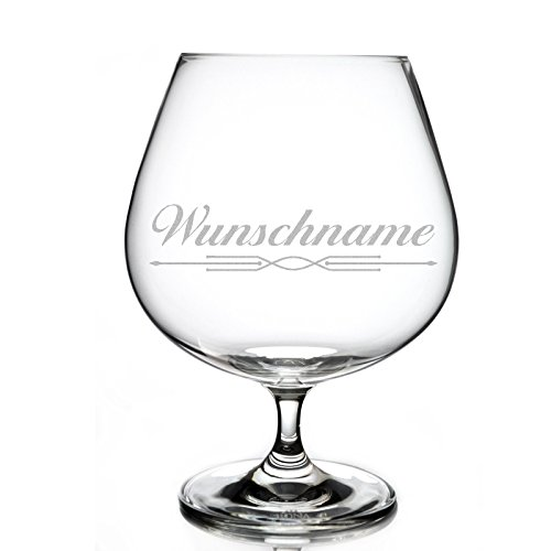 Cognacglas 720 ml mit Gratis Wunschname Wunschgravur
