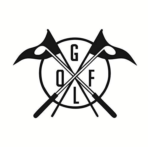 Cerative Golf Club Logo Muster Wandtattoos Vinyl Aufkleber Golf Sport Spiel Wandaufkleber Wohnkultur Schlafzimmer Dekorative Vinyl 59x42 cm