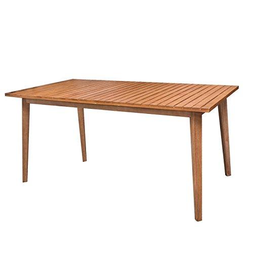Table de jardin rectangulaire 150cm en bois d'acacia MURCIA - L 150 x l 90 x H 74