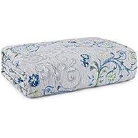 Bassetti Granfoulard.- Colcha copriletto Acanthus V3 azul para cama de 180, en medida 265 x 255 cm