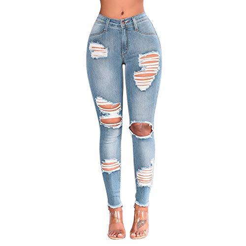 Odjoy-fan jeans donna legging,jeans skinny a vita alta donna,donna pantaloni larghi push up strappati rotti matita