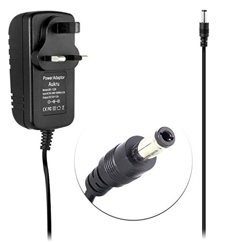 Porum 12 V 3-poliger UK AC DC Adapter Ladegerät Netzkabel Kabel für Pro-Massager Massagematte