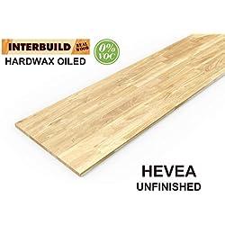 Plans de travail de cuisine en bois d'hévéa Interbuild, 2200x635x26 mm, non finis, 1 pièce/paquet
