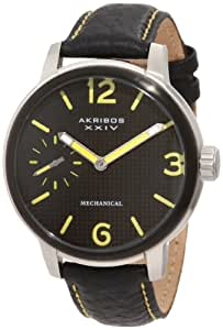 Akribos XXIV Homme AK495YL Essential Mechanical Leather Strap Montre