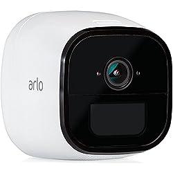 Arlo Go VML4030-100PES Caméra de Sécurité 100% sans Fils et Mobile via SIM 3G/4G LTE,HD Jour/Nuit Etanche IP65 son Bidirectionnel Idéale pour les Zones sans Wifi