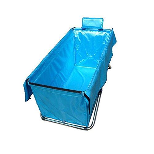 Faltende Badewanne Einfache Faltende Badewanne / Erwachsen-Bad / Haus-Aufblasbares Bad / Verdickung Dauerhafte Isolierung Faltbare Badewanne (Farbe: Blau),Blue (Haus-aufblasbare)