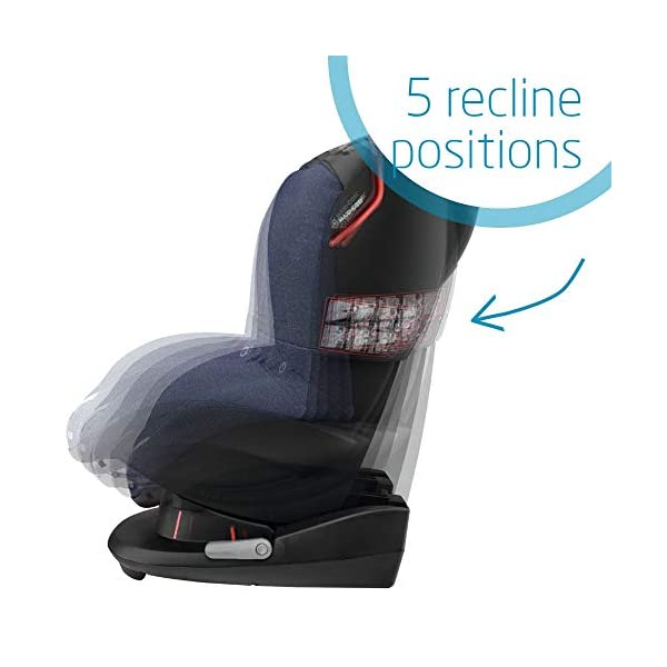 Maxi-Cosi Tobi Toddler Car Seat Group 1, Forward-Facing Reclining Car Seat, 9 Months-4 Years, 9-18 kg, Sparkling Blue Maxi-Cosi Forward facing group 1 car seat suitable for children from 9 to 18 kg (approx. 9 months to 4 years) Install with a 3-point car seat belt, with clear and intuitive seat belt routing High seating position allows toddler to watch outside the window 6