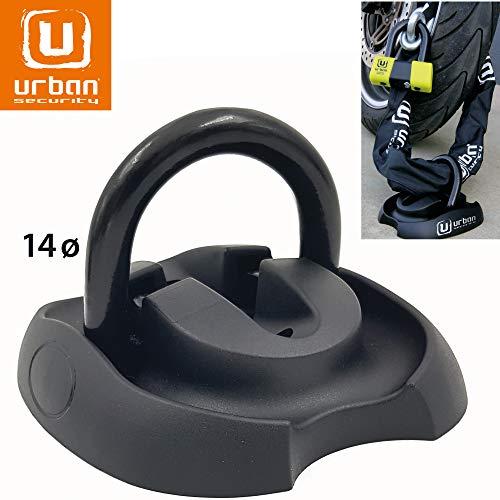 Urban Security UR55 Anclaje Suelo Moto Anilla Acero basculante ø14 con Tacos...