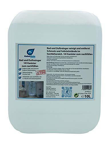 KaiserRein Bad-Reiniger Sanitärreiniger 10 L Kanister Schaum-Reiniger reinigt schonend und entfernt Kalk, Schmutz und Fett 10l zum nachfüllen von Spray-Flaschen