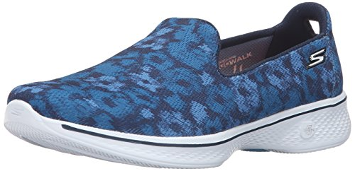 Skechers prestazioni Go Walk 4 Electrify Flourish scarpa a piedi Navy