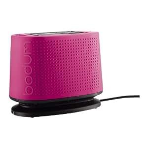 Bodum Bistro Toaster, 2 Slot, Pink