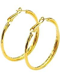 Mes-Bijoux-Bracelets Boucles d oreilles créole Doré or jaune 24 carats Bijou 1ee45429922d