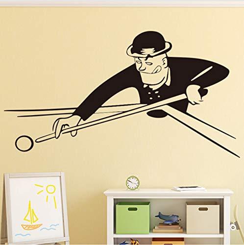 58X104cm Billard Muster Wandtattoo Wandaufkleber Wandbild Für Wohnkultur Wohnzimmer Schlafzimmer Diy Wasserdichte Dekoration