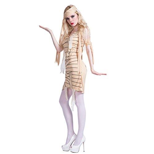 Kostüm Mumie Scary - JANDZ Karneval Kostüme: Erwachsene Frauen Cosplay Outfit: Scary Halloween Kostüme: Mumie Girl