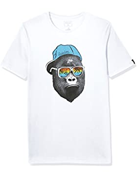 Quiksilver SS ClassicYouth Kong Business - Camiseta para niño, color blanco, talla L