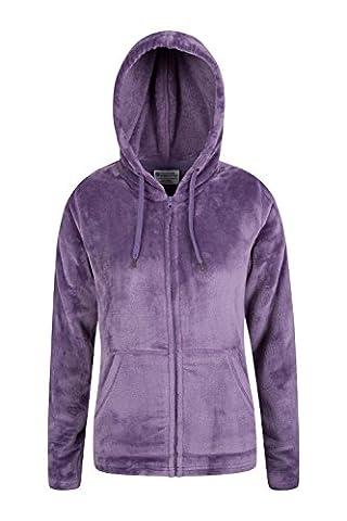 Mountain Warehouse Snaggle Women Fleece with Adjustable Hood and pockets Light Purple 12