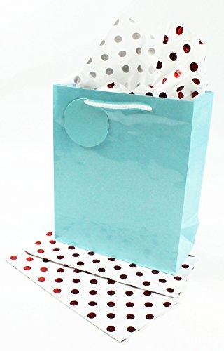 3Weiß Rot Metallic Folie gepunktet Seidenpapier Geschenkpapier, Geschenk, Kunst (Metallic-rosa Poms Pom)