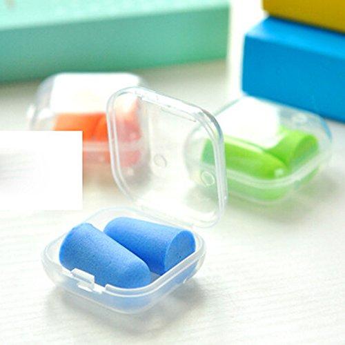 Mousse bouchons d'oreille anti-bruit(Random Color: 3 Pairs)-Non compris la boîte